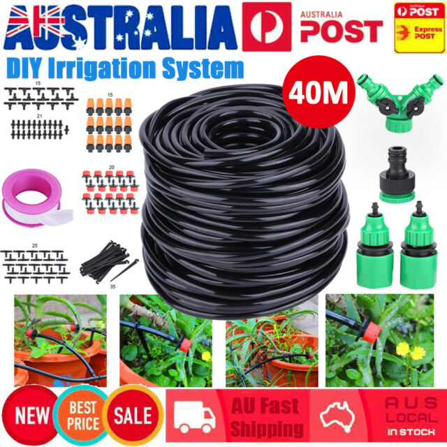 40M DIY Irrigation System Kit Water Timer Auto Sprinkler Plant Watering Garden