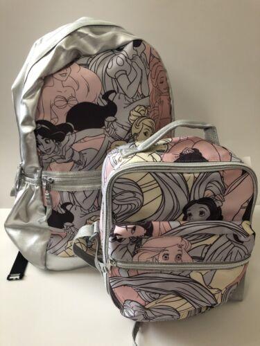 NEW Disney Princess Backpack /& Lunch Bag Set GAP~Ariel~Mulan~Rapunzel~Cinderella