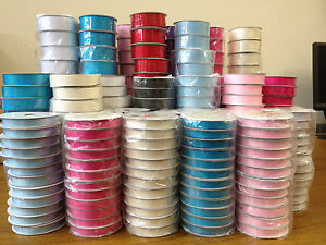 10-metres-of-Grosgrain-Ribbon-10mm-16mm-25mm-38mm-widths-Various-colours