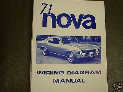 1971 Chevrolet Nova Wiring Diagram Manual | eBay
