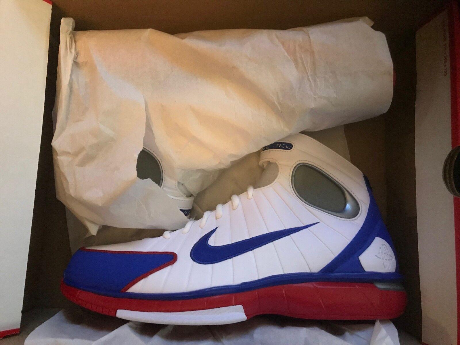 Nike air zoom huarache 2k4 white red royal size 13 new