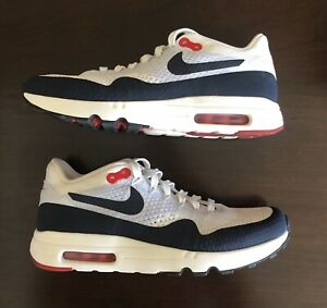 """Details about Nike Air Max 1 Ultra 2.0 Flyknit Sz 8 """"Sail Obsidian"""""""