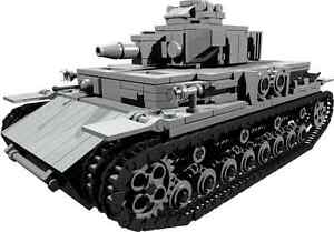 CUSTOM building INSTRUCTION WW2 PANZER IV ver D TANK to build out of LEGO parts - Exmouth, Devon, United Kingdom - CUSTOM building INSTRUCTION WW2 PANZER IV ver D TANK to build out of LEGO parts - Exmouth, Devon, United Kingdom