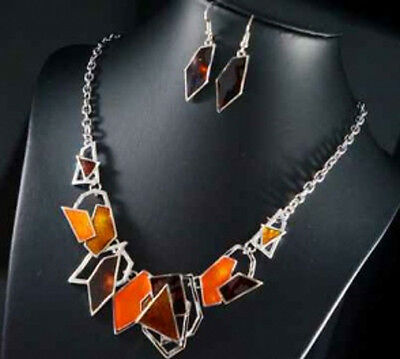 Luxus Set 2 Tlg Kette Ohrringe Schmuckset Collier Halskette  Emaille Kranz Paris