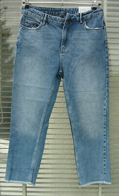 2 Ndday Donna Jeans Blu Chiaro Size 31 De40 Relaxed Fit/mid Waist/straight Leg Nuovo-