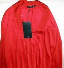 Zara W&B Puffed Sleeve Boho Russet red Long sleeve Top Size M new tags BNWT