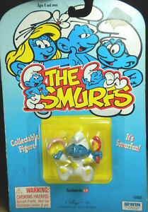 Smurfs-20224-Messy-Baby-Smurf-Bowl-amp-Spoon-1985-Vintage-Figure-PVC-Toy-Figurine