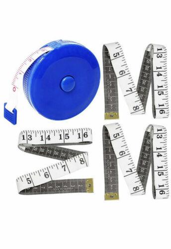 4 pcs Retractable Measuring Tape Cloth Tailor Seamstress Ruler Soft Measure Body