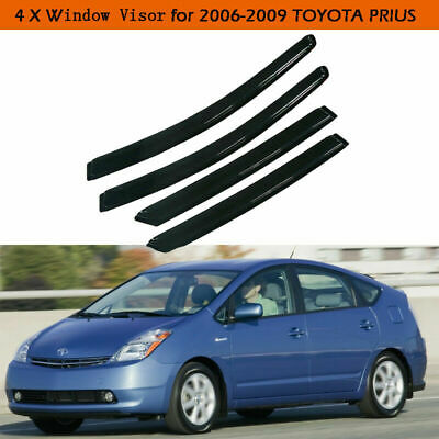 4pcs Visor Rain Guards For Toyota Prius 2004 2005 2006 2007 2008 2009 4-Door