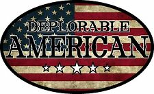 DEPLORABLE AMERICAN VINTAGE FLAG DECAL WINDOW BUMPER STICKER POLITICAL TRUMP