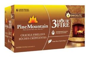 Pine Mountain 41525-01321 3-Hour Fire Crackle Firelog, 6-Pack
