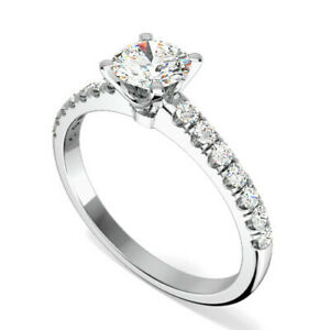 0-72-Ct-Diamond-Engagement-Ring-14K-Solid-White-Gold-Wedding-Rings-Size-5-6-7-8