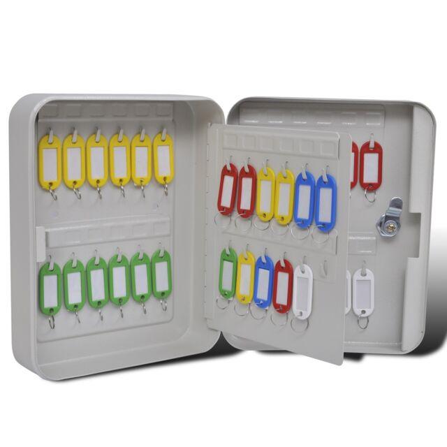 vidaXL Schlüsselkasten Schlüsseltresor Schlüsselschrank Schlüsselbox Safe Haken