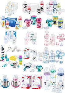 NUK-Startset-Geschenk-Set-Mickey-Winnie-Glas-Boy-Girl-Babyflaschen-NEU