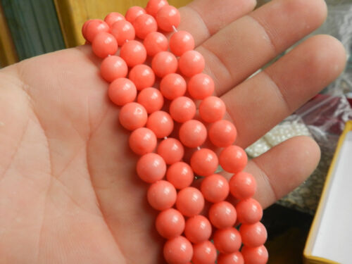"""Charmant 8 mm NATURAL Japan Sea rose corail pierres précieuses Round Loose Beads 15/"""" AAA"""