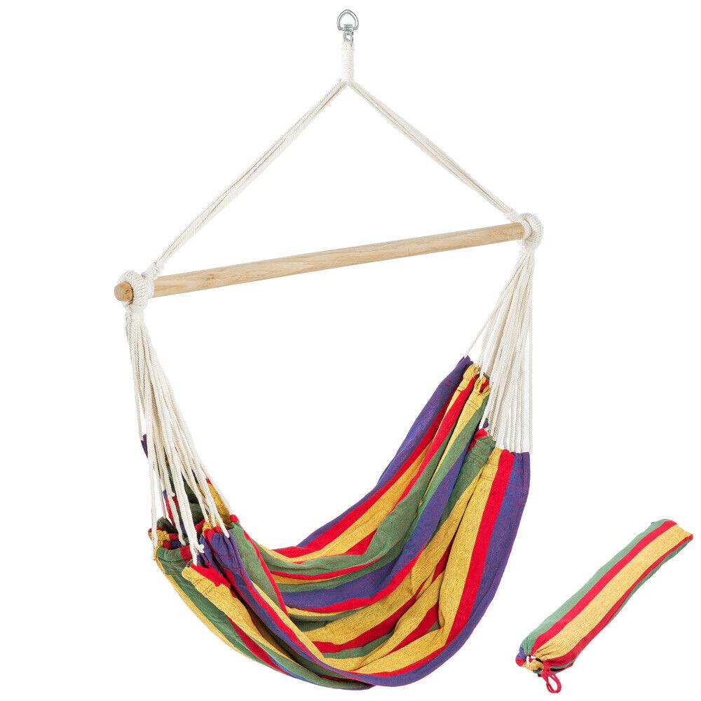XXL Hamaca sillón colgante tumbona hammock jardin camping playa silla amaca NUEV