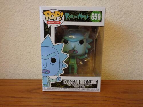 Animation Rick /& Morty Funko Pop Hologram Rick Clone #659 Vinyl Figure