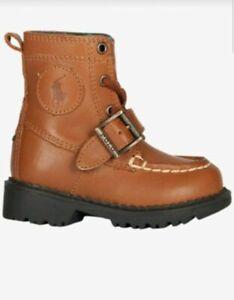 ee0be60d4af Details about Polo Ralph Lauren Ranger High Boys Preschool School Boots  Shoes Size 3