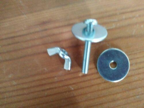 1 Tuerca, 2 Arandela Y Perno 1 Conjunto único de accesorios de Barra de cesta Moisés De Metal Delux