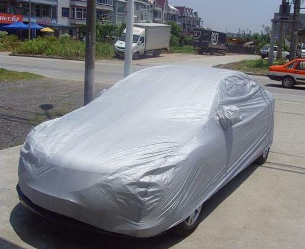 Outdoor UV Sun Rays Water Snow Protection Full Car Cover M-Size US Shipping