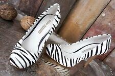 "Buffalo London * High Heels / Pumps * ""Ponyfell"" Zebra * Animal * Party * Gr 36"