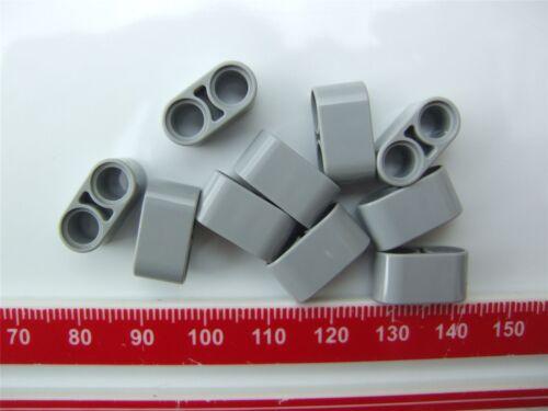4211862 10 x Lego Grey Technic 2M beam Parts /& Pieces