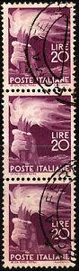 1945 ITALIA REPUBBLICA -Terzina Serie Democratica Lire 20 - Lilla scuro - n. 561 - Italia - 1945 ITALIA REPUBBLICA -Terzina Serie Democratica Lire 20 - Lilla scuro - n. 561 - Italia