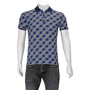 Fendi-Men-039-s-BlueDamier-Logo-Polo-Shirt