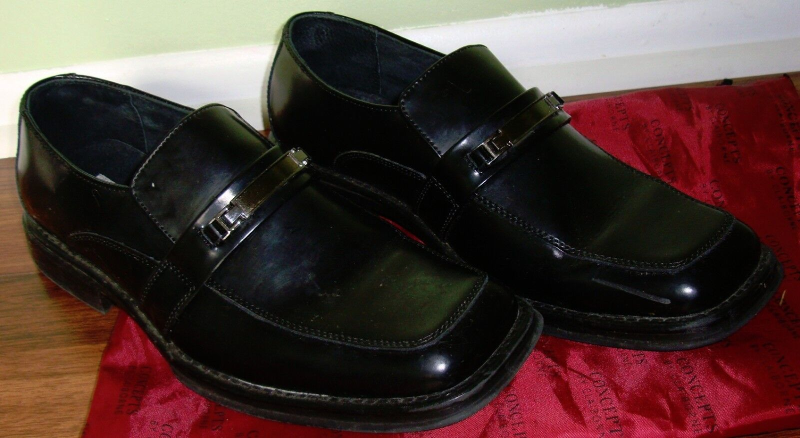 Claiborne Loafer Concepts Mens Shoes Classic Loafer Claiborne Style Leather Black, Size-10.5M 6f67d0