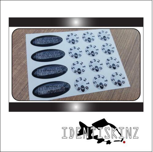 DELKIM TXI STD EV PLUS MODELS DOMED OVAL DIAL STICKERS KIT BLACK EDITION