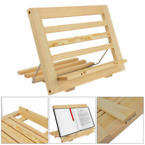 Wooden Reading Rest Book Stand Display Holder For Cookery Music
