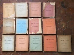 lot 13 vol Commission Municipale du VIEUX PARIS séances Procès-verbaux 1898-1912