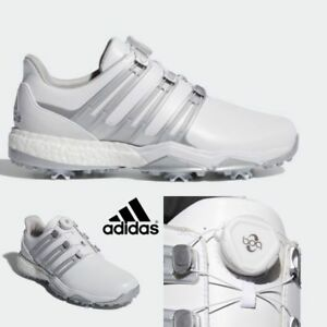 6e8987c10847a Adidas F33787 Golf Shoes Men s Powderband BOA Boost 3 WD White ...