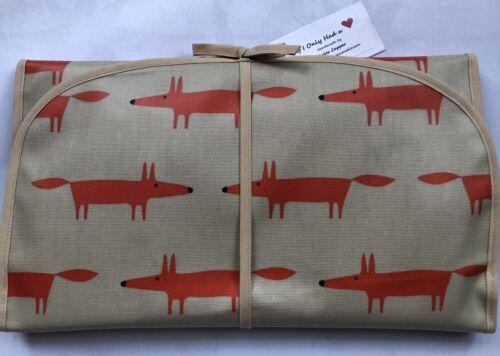 Mr Fox Wipe Clean Baby Change Folding Padded Portable Mat Handmade High Quality