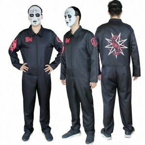 Adult-SlipKnot-Heavy-Metal-Cosplay-Costume-Jumpsuit-Halloween-Party