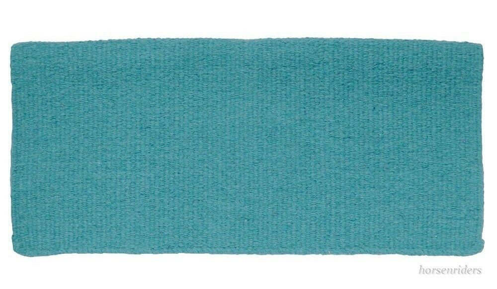 Western Saddle Blanket-Solid Turquoise Wool-5 pounds-Size 34  x 38