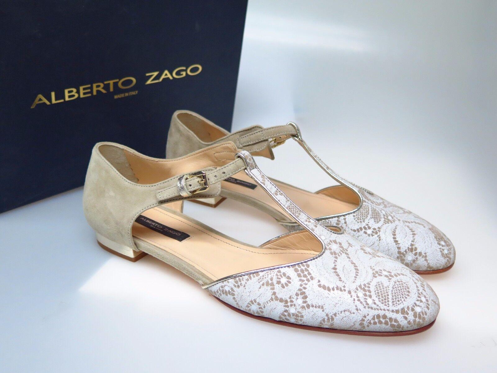Descuento de liquidación ALBERTO ZAGO Damenschuhe Schuhe E33721 Pizzo Camoscio Taupe Gr. EU 38,5 NEU