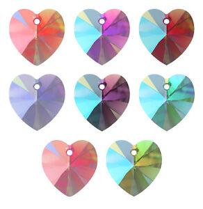 éNergique Genuine Swarovski 6228 Xilion Heart Crystal Pendentifs * Nouvelles Couleurs-afficher Le Titre D'origine Apparence EsthéTique