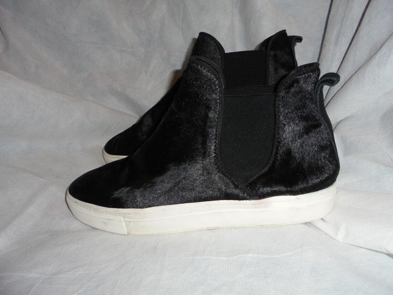 ZARA Capra Donna Nero Pelle di Capra ZARA Mocassini Sneaker Boot Boot Taglia EU 41 US 11 in buonissima condizione 5d1702