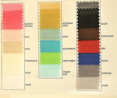 """VOILE FABRIC 118"""" CHOICE OF COLOR  1 YARD  100% POLY  CURTAINS, CLOTHING"""