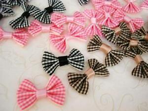 "60 Satin 3//8/"" Ribbon Pearl Bead Bow//trim//sewing//Craft//Decoration F47-All Black"