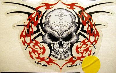Biker Decals Viny Tribal Skull Sticker
