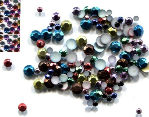 RHINESTUDS Faceted  MIXED COLORS  2mm Iron on 144 Pcs  1 gross