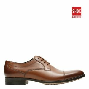 Clarks CONWELL CAP Brown Mens Lace-up Dress/Formal Leather Shoes