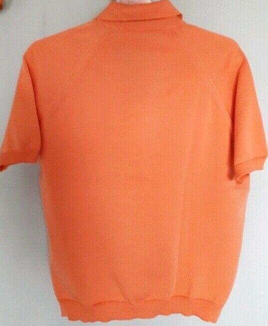 Vintage 60s  Sportswear Cardigan Sweater  Apricot… - image 6