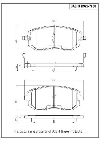 Front Premium Brake Pad Set For Saab 9-2X 05-06 Subaru Baja 03-06 Forester 03-10