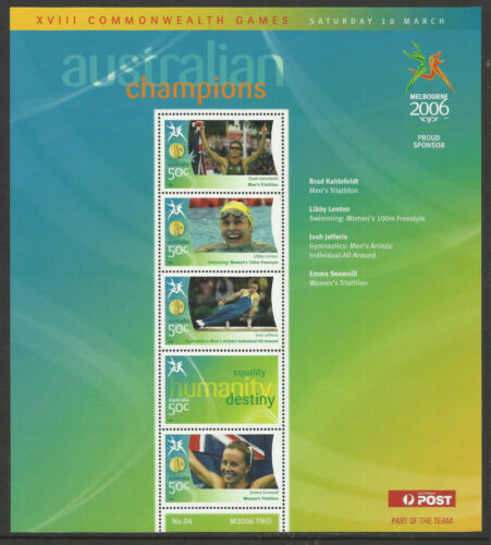 AUSTRALIA 2006 COMMONWEALTH GAMES GOLD MEDAL Souvenir Sheet No 4 MNH