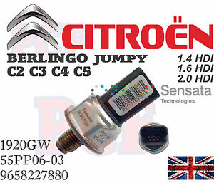 genuine fuel pressure sensor citroen c2 c3 c4 c5 berlingo jumpy 1 4 1 6 2 0 hdi ebay. Black Bedroom Furniture Sets. Home Design Ideas