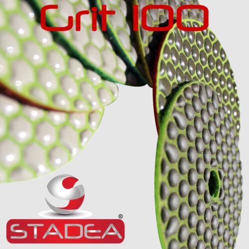 "STADEA 4/"" Dry Diamond Polishing Sanding Pads Discs Granite Marble Concrete Glass"