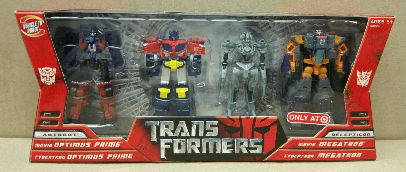 Transformers cible Cybertron Legends  Optimus Prime Megatron ULTRA RARE 2006